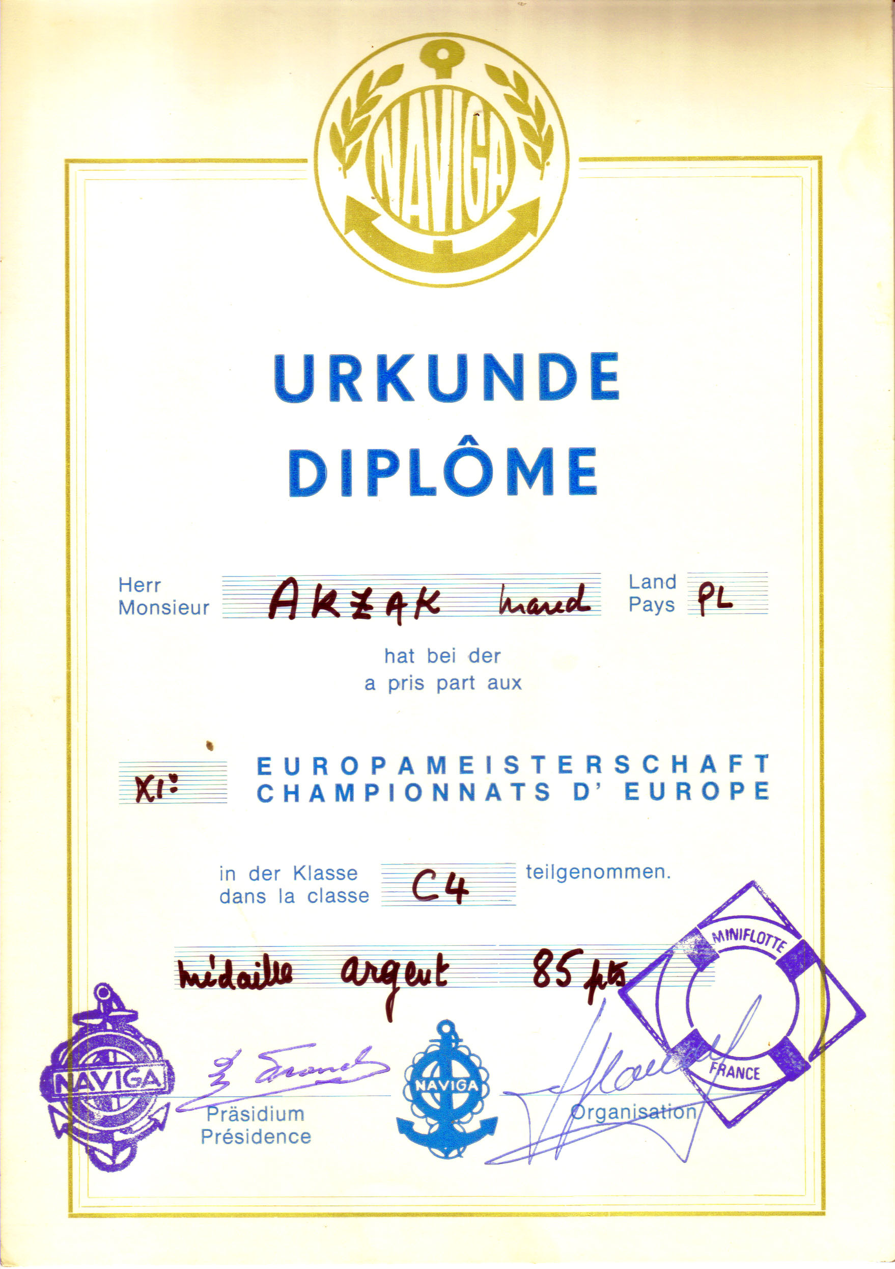 Dyplom 02 Mistrzostwa europy Srebro