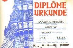 Dyplom 09 Jablonec 1981 Srebro