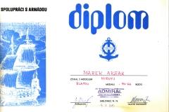Dyplom 11 Jablonec 1985 Zloto