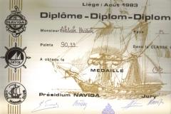 Dyplom 14 Liege 1983 Zloto