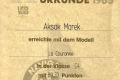 Dyplom 17 Rastatt 1985 Srebro