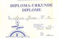 Dyplom 19 Rouen 1987 Srebro